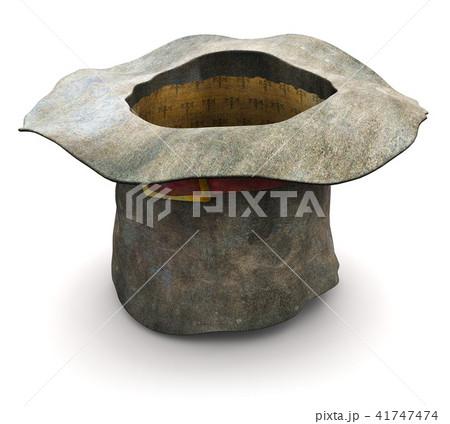 Old vintage crumpled beggar hat 41747474