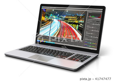 Laptop or notebook with video editing software 41747477
