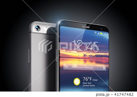 Modern touchscreen smartphone on black background 41747482