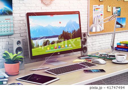 Desktop computer in modern office home workspace 41747494