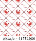 カニ 振る 海のイラスト 41751980