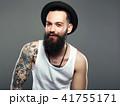Smiling Hipster boy.handsome man in hat 41755171