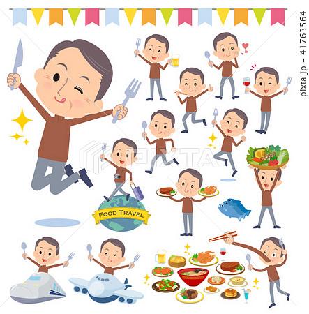Brown high neck Middle aged men_food festival 41763564