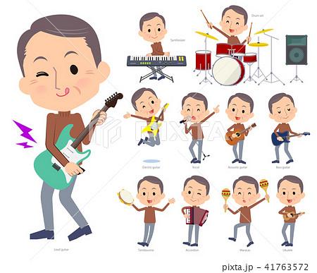 Brown high neck Middle aged men_pop music 41763572