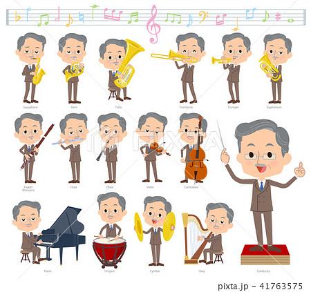 Double suit beard old men_classic music 41763575