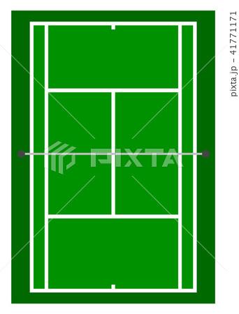 テニスコートのイラスト素材 41771171 Pixta