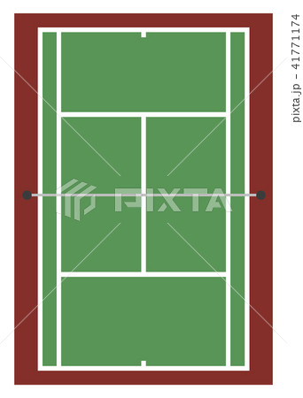 テニスコートのイラスト素材 41771174 Pixta