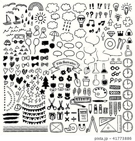 子ども向け手描きイラスト詰合せ 41773886