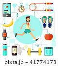 ジョギング 人 男のイラスト 41774173