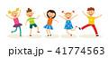 組み合わせ 子供 ダンスのイラスト 41774563