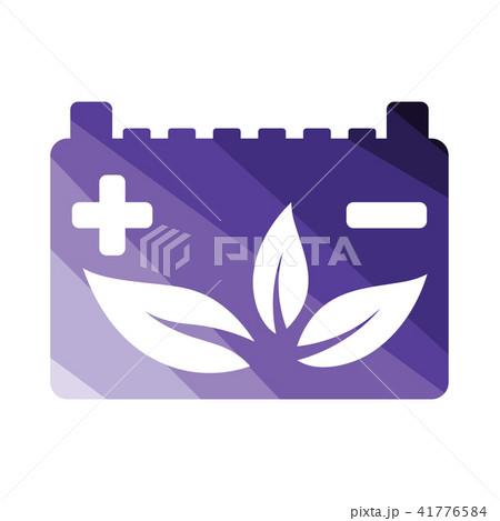 Car battery leaf icon 41776584