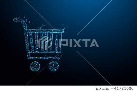 Shopping Cart form lines and particle style design 41781006