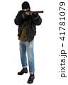 銃 強盗 男の写真 41781079