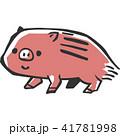 亥 年賀状素材 ベクターのイラスト 41781998