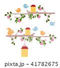 ステンシル 鳥 絵のイラスト 41782675