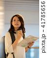 空港 旅行 女性 撮影協力:成田空港 41785656