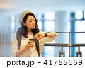 空港 旅行 女性 撮影協力:成田空港 41785669