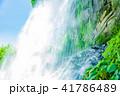 水しぶき 乙女滝 初夏の写真 41786489