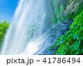 水しぶき 乙女滝 初夏の写真 41786494