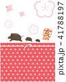 年賀状 和柄 亥のイラスト 41788197