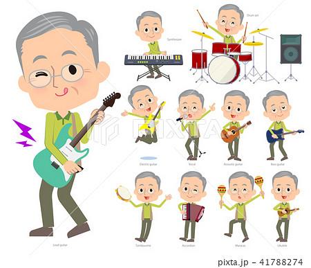 Green wear grandfather_pop music 41788274