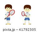 テニス 男の子 子供のイラスト 41792305