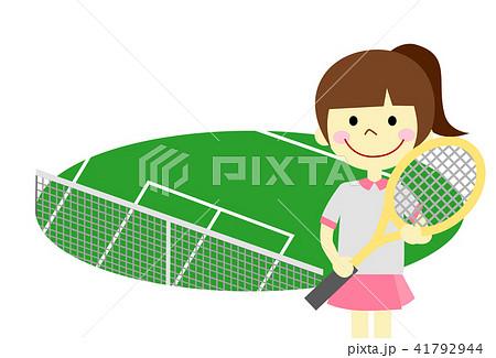 テニス 女の子 41792944
