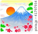 富士山 梅 松のイラスト 41797934