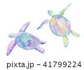 ウミガメの水彩イラスト 41799224