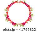 花 フレーム 植物のイラスト 41799822