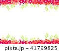 花 フレーム 植物のイラスト 41799825