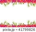花 フレーム 植物のイラスト 41799826