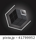 Create 3D cube design element on black background 41799952