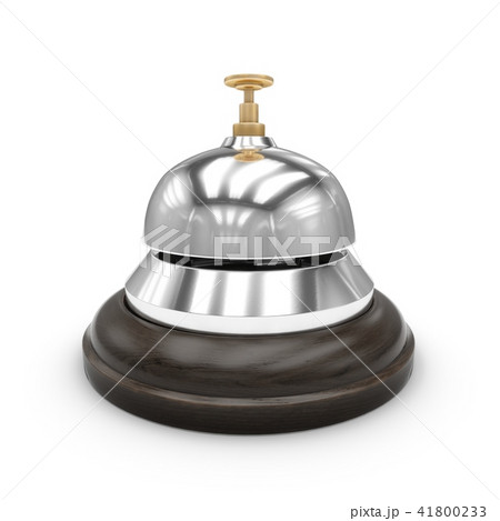 3D Rendering Reception bell isolated on white 41800233