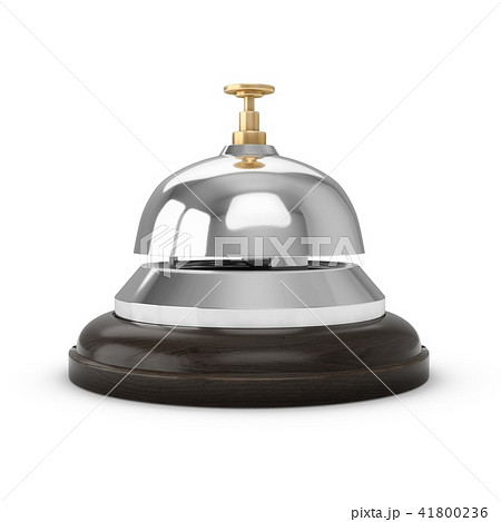 3D Rendering Reception bell isolated on white 41800236