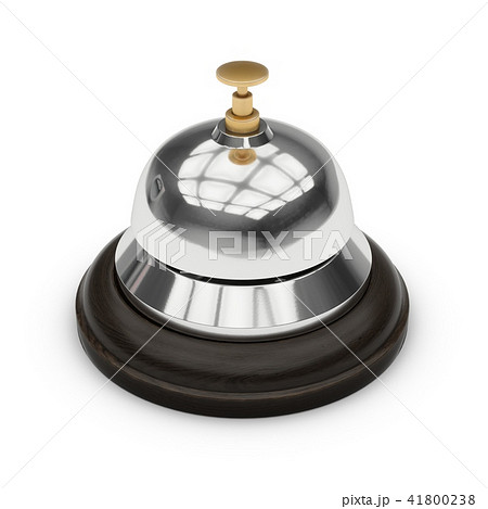 3D Rendering Reception bell isolated on white 41800238