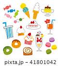 スイーツ デザート 食べ物のイラスト 41801042