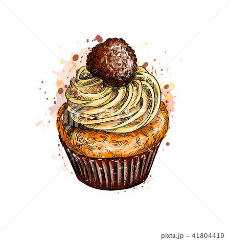 Cupcake with cream 41804419