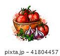 とまと トマト にんにくのイラスト 41804457