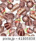 チョコレート 水彩画 お菓子のイラスト 41805838