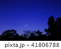 月 三日月 星空の写真 41806788