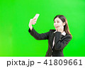携帯 携帯電話 女性の写真 41809661