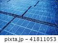 発電施設 太陽光発電 ソーラーパネルのイラスト 41811053
