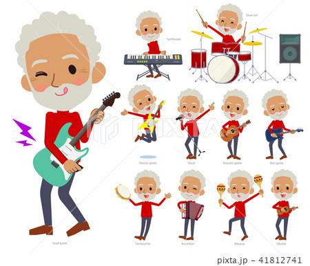red high neck old man black_pop music 41812741