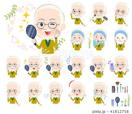 Yellow Ocher knit old man White_beauty 41812758