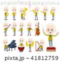 男性 シニア 楽器のイラスト 41812759