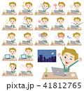 blond hair businessman White_desk work 41812765