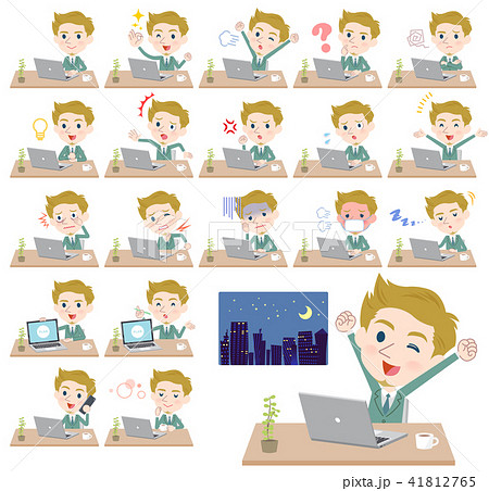 blond hair businessman White_desk work 41812765