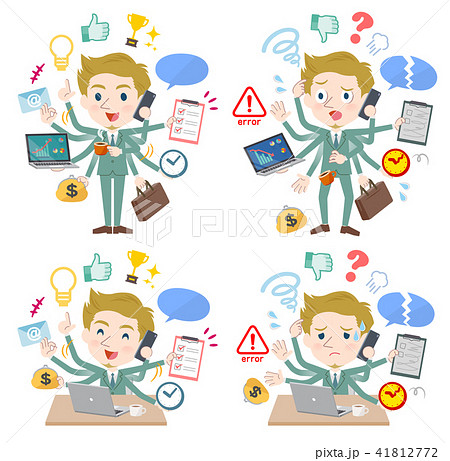 blond hair businessman White_mulch task Office 41812772