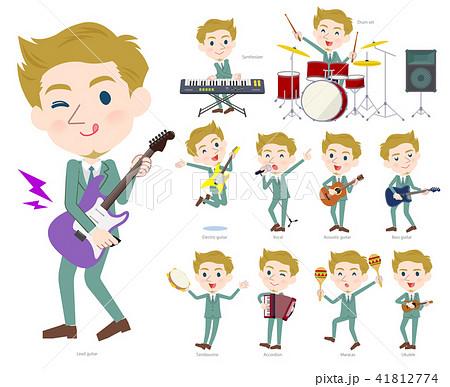 blond hair businessman White_pop music 41812774